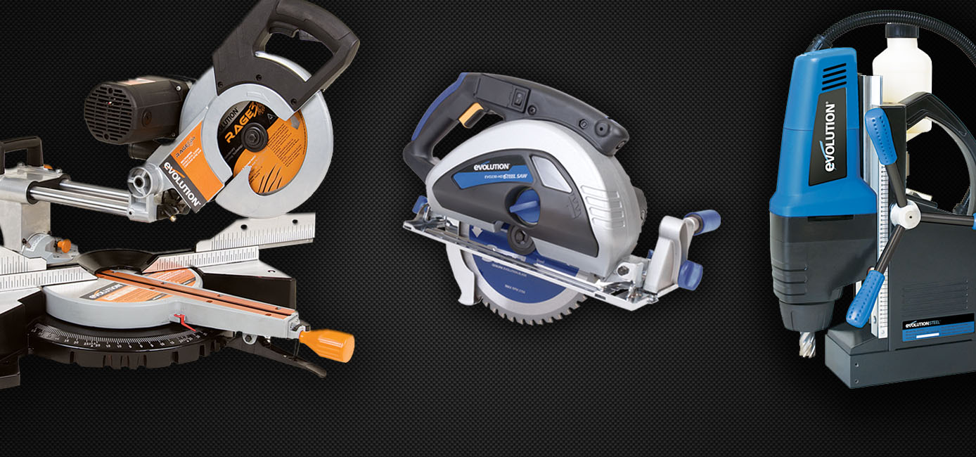 Power tools for industry in general. Exclusive representative of EVOLUTION.